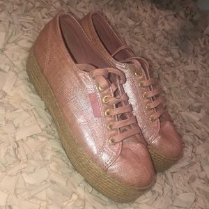 Superga Pink platform shoes